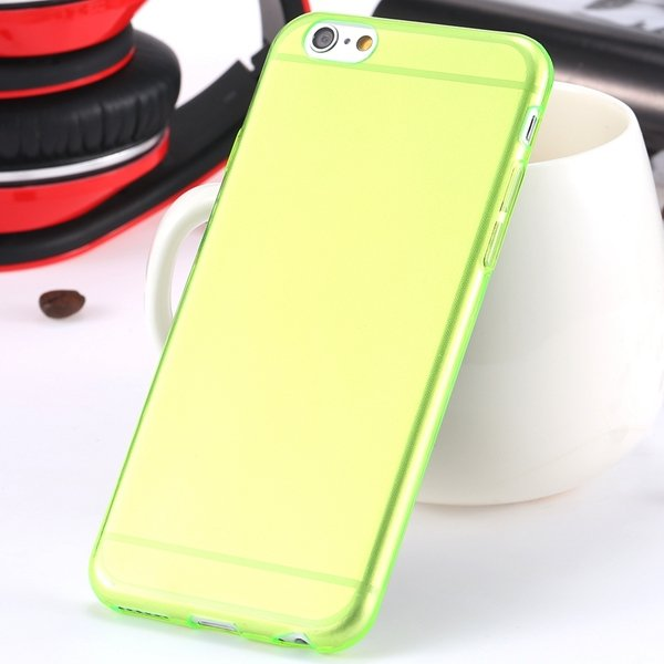 I6 Super Flexible Clear Tpu Case For Iphone 6 4.7Inch Slim Crystal 2024442787-4-Thin green