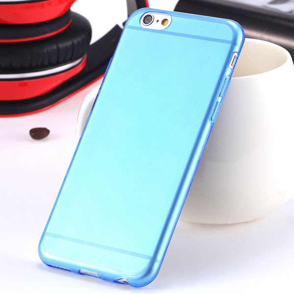 I6 Super Flexible Clear Tpu Case For Iphone 6 4.7Inch Slim Crystal 2024442787-5-Thin blue