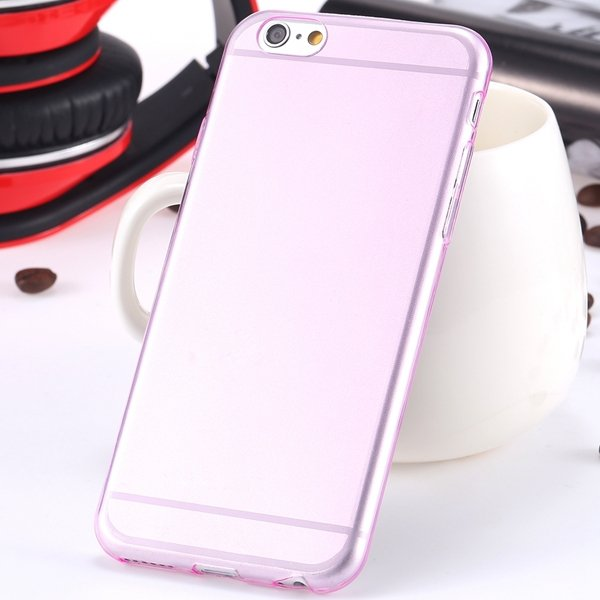 I6 Super Flexible Clear Tpu Case For Iphone 6 4.7Inch Slim Crystal 2024442787-7-Thin pink