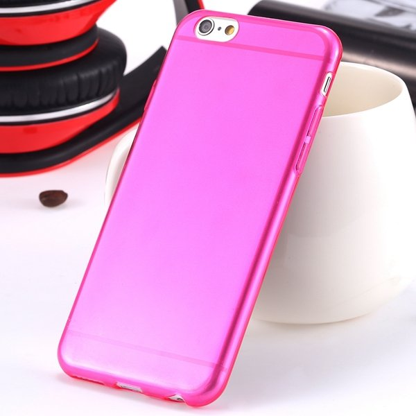 I6 Super Flexible Clear Tpu Case For Iphone 6 4.7Inch Slim Crystal 2024442787-8-Thin hot pink