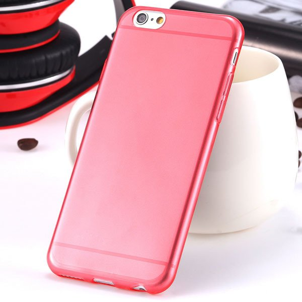 I6 Super Flexible Clear Tpu Case For Iphone 6 4.7Inch Slim Crystal 2024442787-10-Thin red