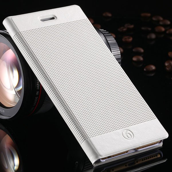Popular Grid Structure Flip Wallet Shell For Iphone 6 Plus 5.5Inch 32214571519-5-white