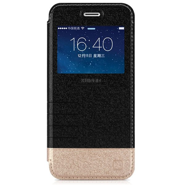 I6 Flip Pu Leather Window Cover For Iphone 6 4.7Inch Cell Phone Ca 32216246716-1-black