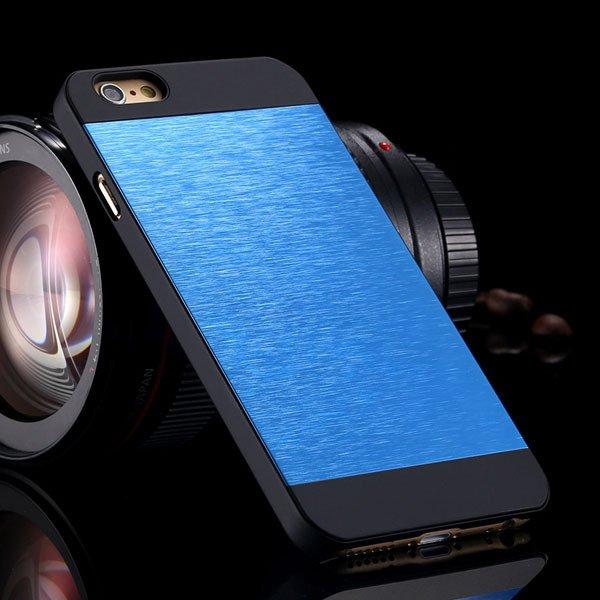 I6 Slim Case Aluminum Metal Brush Back Cover For Iphone 6 4.7Inch  32231887341-4-deep blue