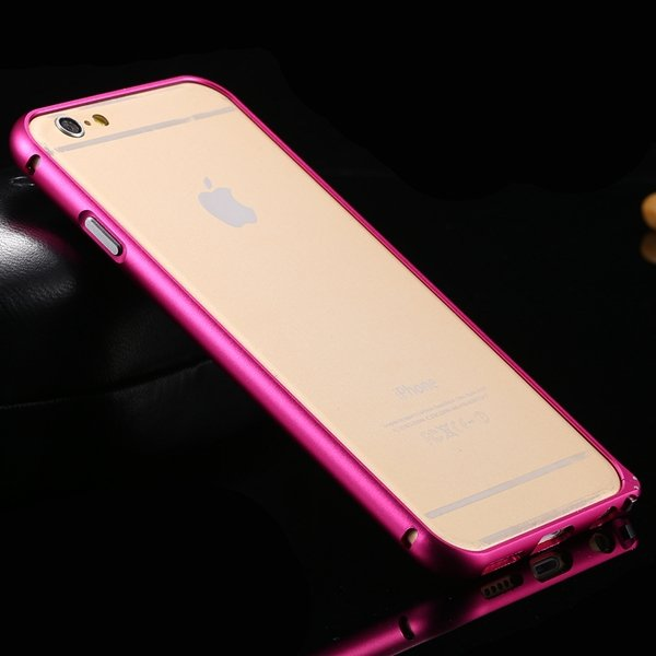 I6 Metal Frame Aluminum Case For Iphone 6 4.7Inch Slim Protective  32213754716-7-hot pink