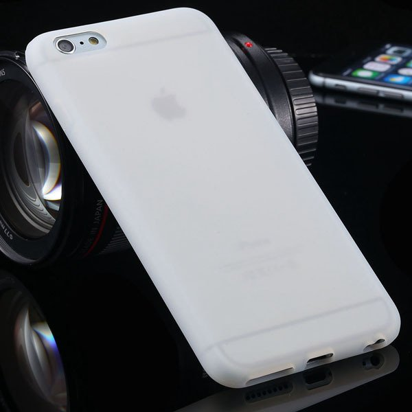 Ultra Soft Silicone Cover For Iphone 6 Plus 5.5Inch Back Phone Cas 2053450499-4-white
