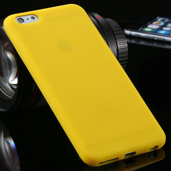 Ultra Soft Silicone Cover For Iphone 6 Plus 5.5Inch Back Phone Cas 2053450499-7-yellow