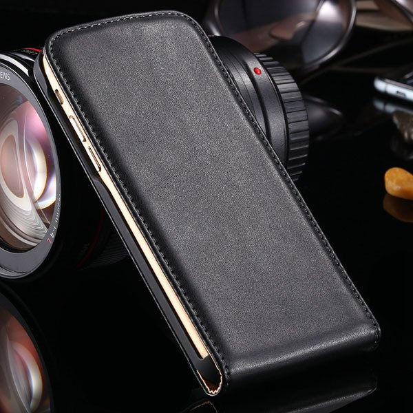 For Iphone 6 Flip Case Genuine Leather Cover For Iphone 6 4.7Inch  32221034920-1-black