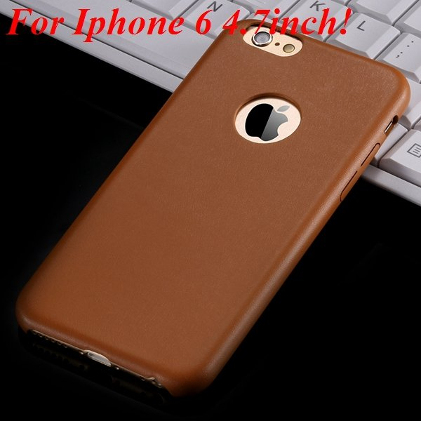 I6 Slim Case Original Ultra Thin Pu Leather Cover For Iphone 6 4.7 32261009616-1-orange for iphone 6