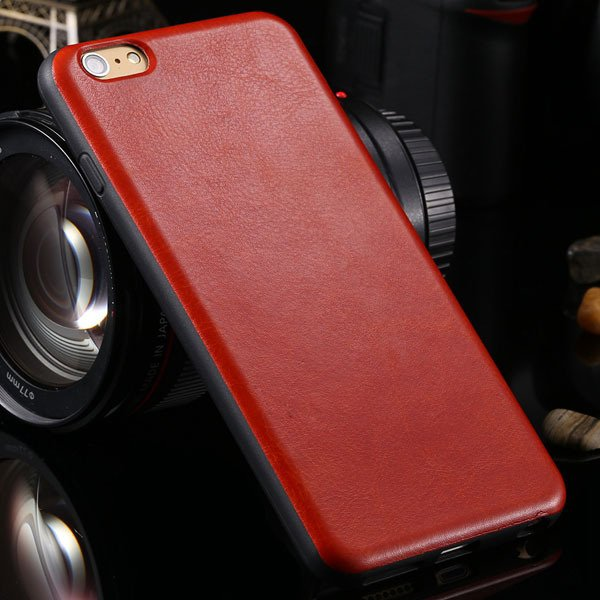 For Iphone 6 Plus Flexible Pu Leather Soft Cover For Iphone 6 Plus 2046848654-3-red