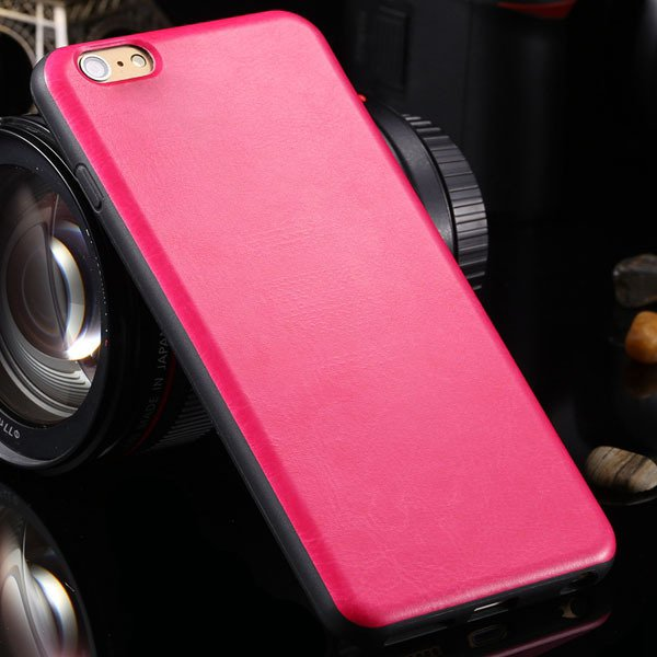 For Iphone 6 Plus Flexible Pu Leather Soft Cover For Iphone 6 Plus 2046848654-4-hot pink