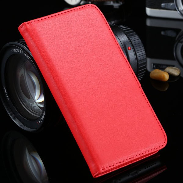 I6 Plus Wallet Book Case Pu Leather Cover For Iphone 6 Plus 5.5Inc 32213815412-4-red