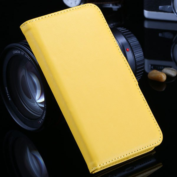 I6 Plus Wallet Book Case Pu Leather Cover For Iphone 6 Plus 5.5Inc 32213815412-6-yellow