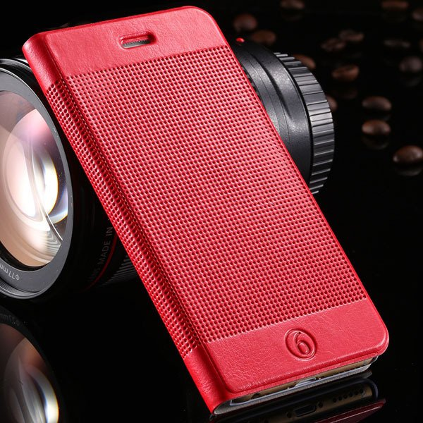 Luxury Grid Structure Full Cell Phone Cover For Iphone 6 4.7Inch S 32214148080-4-red