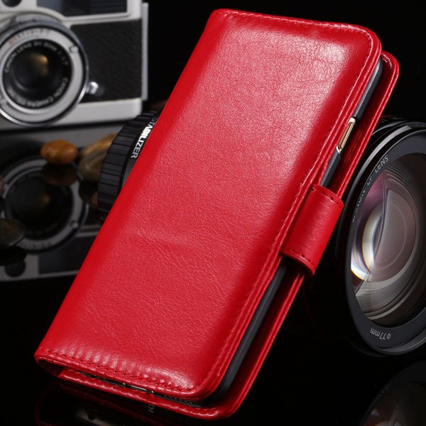 I6 Flip Case Stand Pu Leather Cover For Iphone 6 4.7Inch Wallet Ba 1990100255-3-red