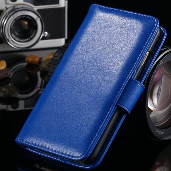 I6 Flip Case Stand Pu Leather Cover For Iphone 6 4.7Inch Wallet Ba 1990100255-4-blue