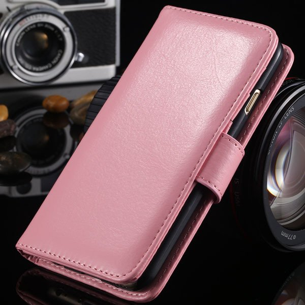 I6 Flip Case Stand Pu Leather Cover For Iphone 6 4.7Inch Wallet Ba 1990100255-6-pink