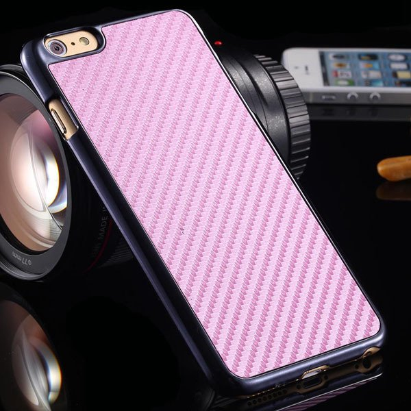 For Iphone 6 Plus Environmental Carbon Fiber Hard Case For Iphone  32221395538-6-pink