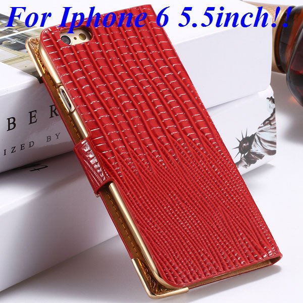I6 Luxury Bling Diamond Case Flip Wallet Pu Leather Cover For Ipho 32232380276-8-red for plus