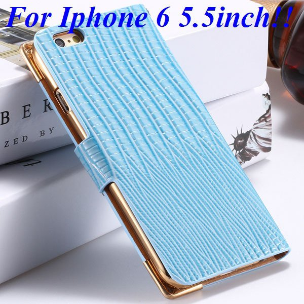 I6 Luxury Bling Diamond Case Flip Wallet Pu Leather Cover For Ipho 32232380276-9-blue for plus
