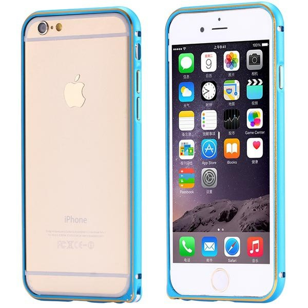 Ultra Thin Metal Frame Bumper For Iphone 6 4.7Inch Slim Bumper Gol 32247866213-3-blue