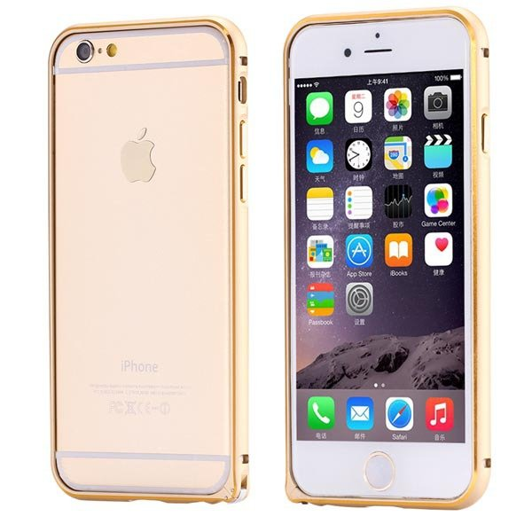 Ultra Thin Metal Frame Bumper For Iphone 6 4.7Inch Slim Bumper Gol 32247866213-5-gold