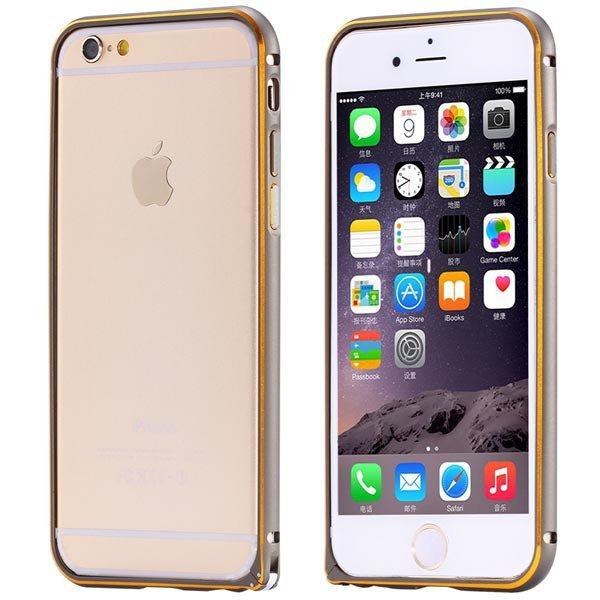 Ultra Thin Metal Frame Bumper For Iphone 6 4.7Inch Slim Bumper Gol 32247866213-7-gray