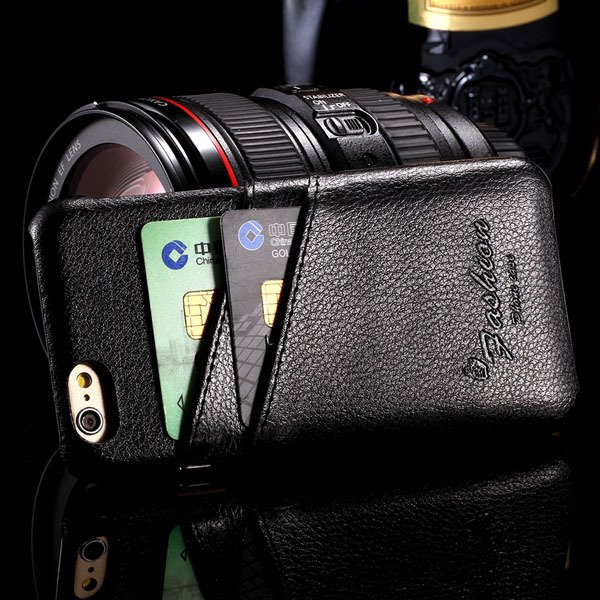 I6 Plus Card Bag Case Genuine Leather Cover For Iphone 6 Plus 5.5I 32267673862-1-black