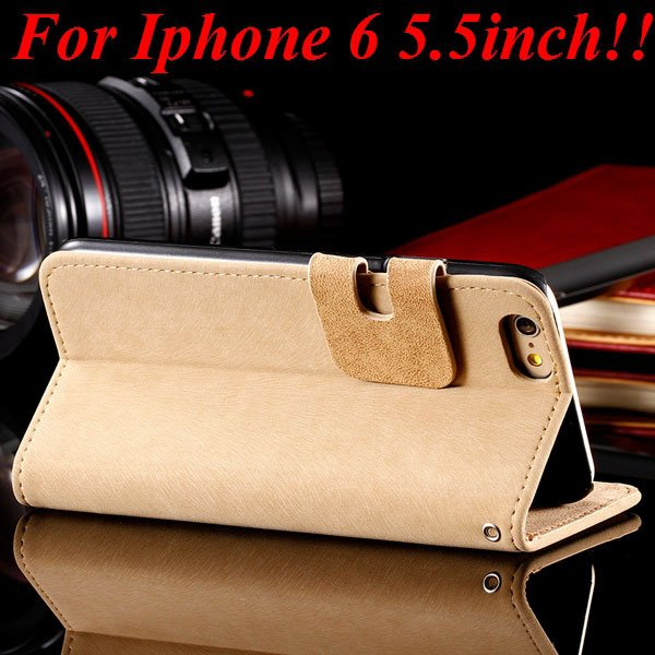 I6 Full Protect Case Pu Leather Cover For Iphone 6 4.7Inch/5.5Inch 32235673767-9-beige for plus