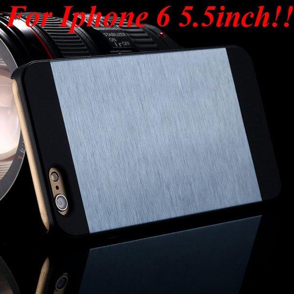 I6/6Plus Aluminum Shiny Metal Brush Hard Cover For Iphone 6 4.7Inc 32232320776-2-navy for plus