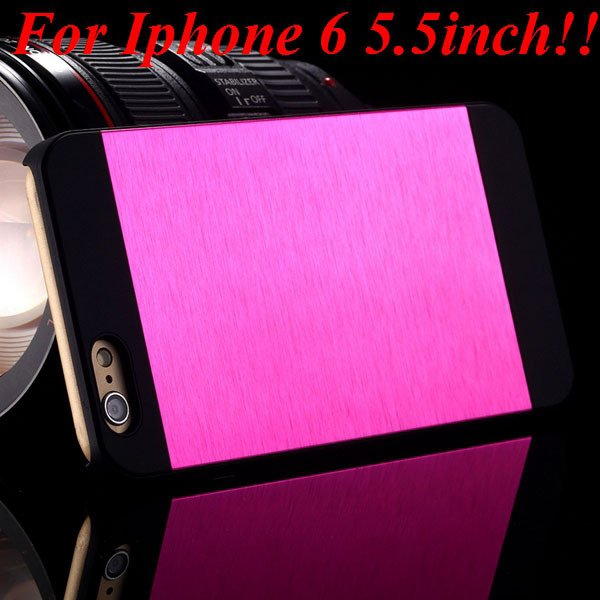I6/6Plus Aluminum Shiny Metal Brush Hard Cover For Iphone 6 4.7Inc 32232320776-7-hot  for plus