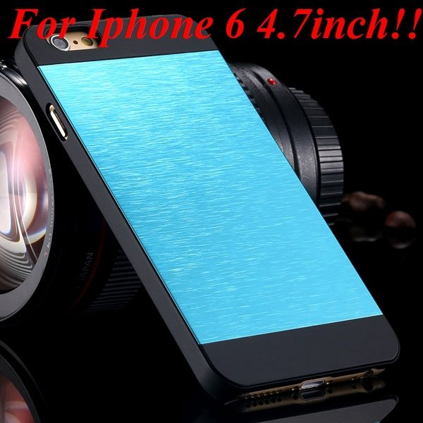 I6/6Plus Aluminum Shiny Metal Brush Hard Cover For Iphone 6 4.7Inc 32232320776-12-sky for iphone 6