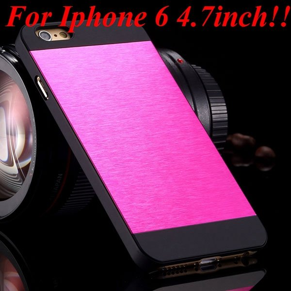 I6/6Plus Aluminum Shiny Metal Brush Hard Cover For Iphone 6 4.7Inc 32232320776-20-hot for iphone 6