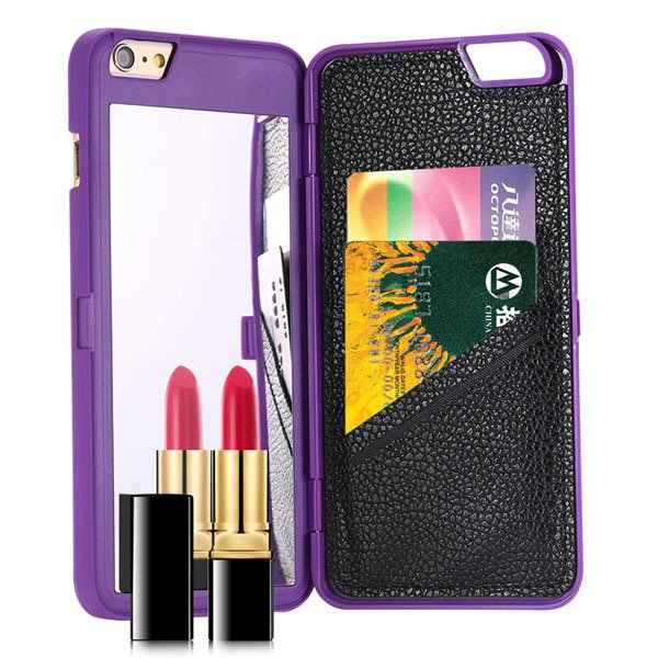 I6 Deluxe Back Case Girl Woman Fashion Mirror Cover For Iphone 6 4 32283860176-2-purple