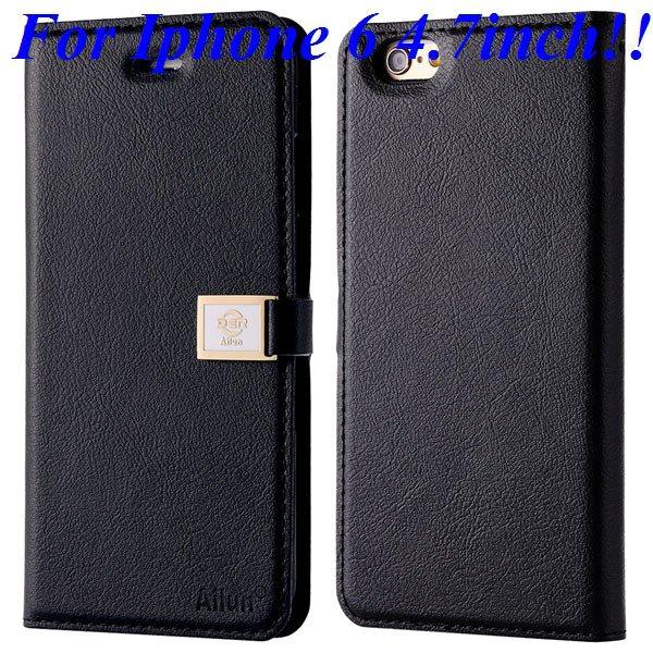 I6/6 Plus Premium Pu Leather Case Original Ailun Branded Full Cove 32229520892-1-black for iphone 6