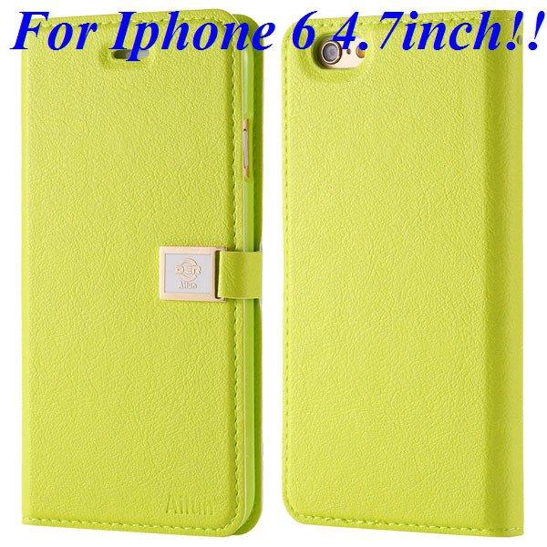I6/6 Plus Premium Pu Leather Case Original Ailun Branded Full Cove 32229520892-3-green for iphone 6
