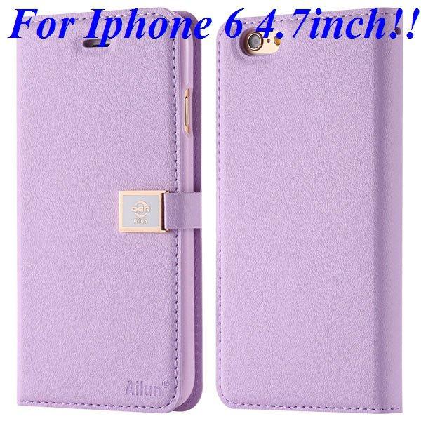 I6/6 Plus Premium Pu Leather Case Original Ailun Branded Full Cove 32229520892-7-purple for iphone 6