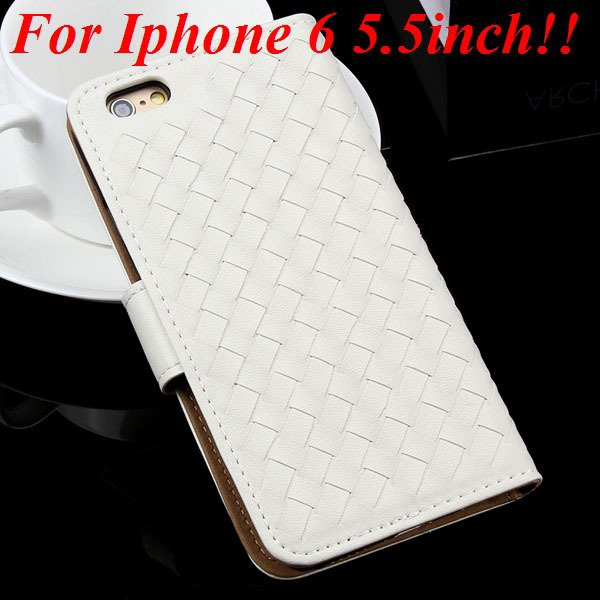 For Iphone 6 Leather Case Flip Weave Full Cover For Iphone 6 4.7In 32257737480-8-white for plus