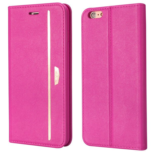 Flip Mobile Phone Cover For Iphone 6 4.7Inch Protective Bag Pomegr 32216439562-4-hot pink