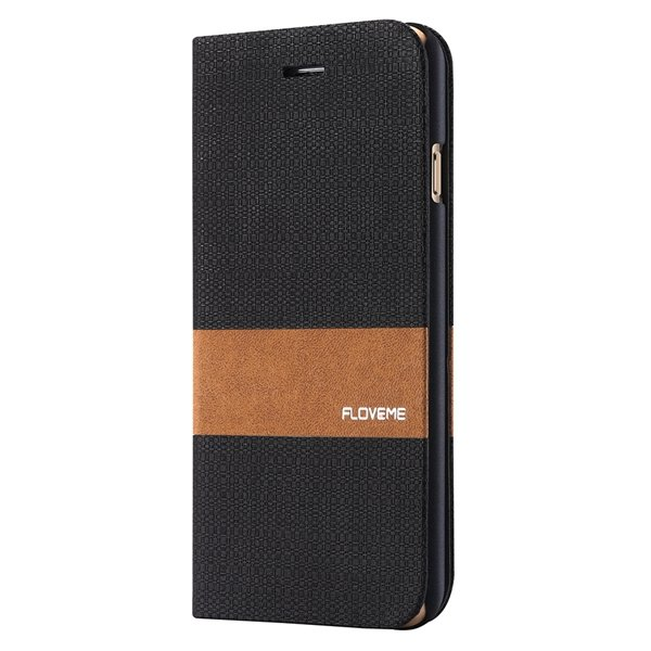 I6 Full Wallet Book Case With Original Brand Logo Flip Magnetic Co 32276577699-1-black