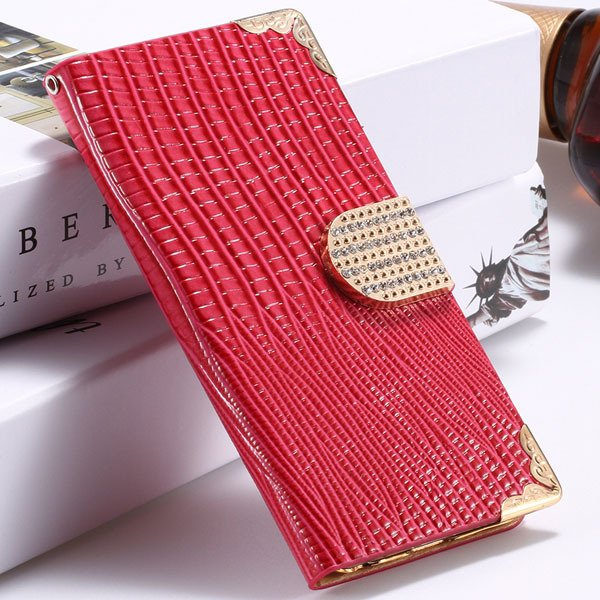 I6 Plus Bling Diamond Case Flip Wallet Cover For Iphone 6 Plus 5.5 32231890571-5-hot pink