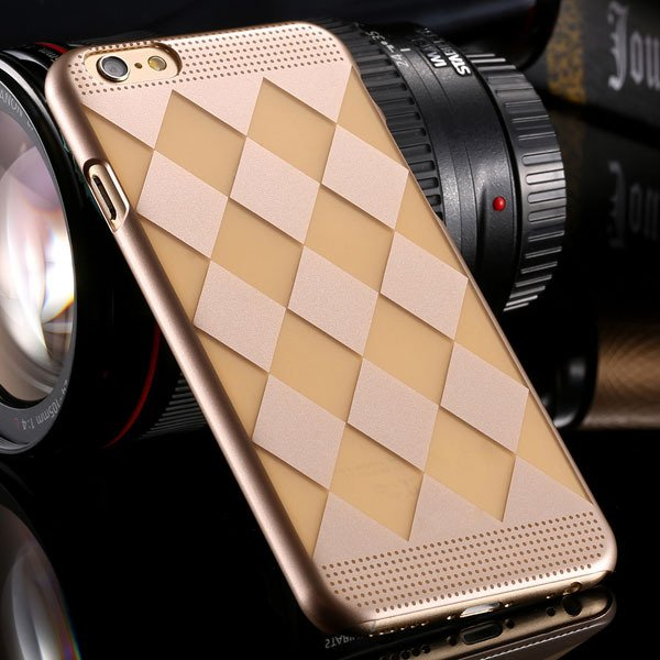 I6 Hard Pc Case Champagne Gold Back Cover For Iphone 6 4.7Inch Ult 32261536023-1-diamond gold