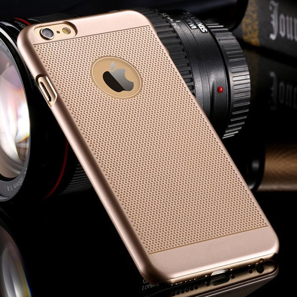 I6 Hard Pc Case Champagne Gold Back Cover For Iphone 6 4.7Inch Ult 32261536023-4-dot gold