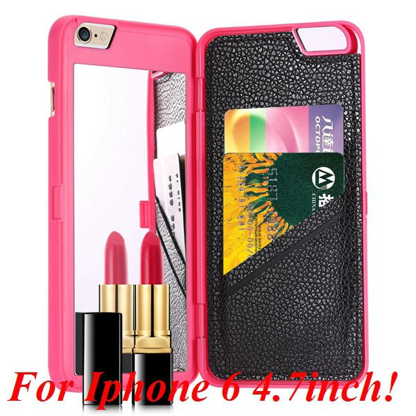 I6/6 Plus Mirror Case Luxury Lady Fashion Cover For Iphone 6 4.7In 32282895782-3-rose for iphone 6