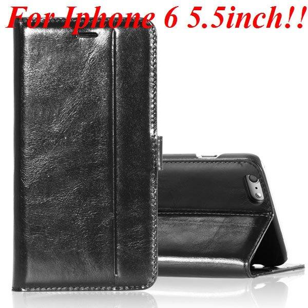 I6 Plus Genuine Leather Case Flip Cover For Iphone 6 Plus 5.5 Inch 32236644902-1-black
