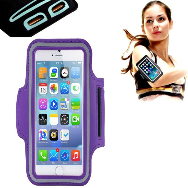 Charming Purple Case For Iphone 6 4.7'' Armband Running Sports Gym 32238692748-1-