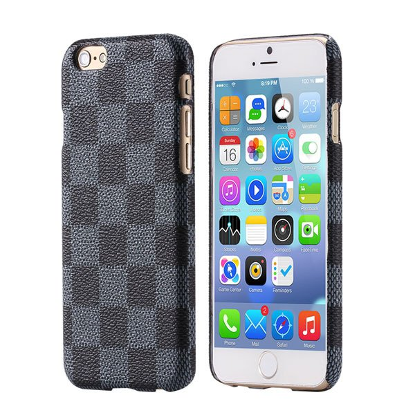 Classic Grid Grain Back Case Cover For Iphone 6 Plus 5.5Inch Ultra 32245532133-1-gray