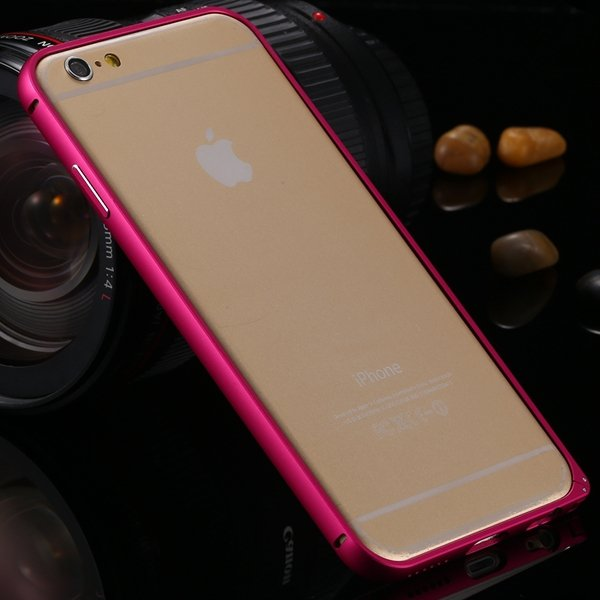I6 Metal Frame Case Aluminum Cover For Iphone 6 4.7Inch Slim Back  2055175192-4-hot pink