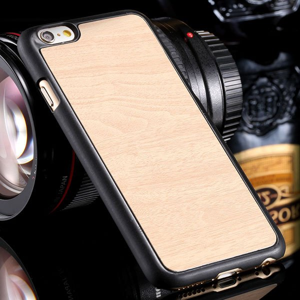 Simple Fashion Wood Pattern Hard Case For Iphone 6 4.7Inch Back Co 32253993843-6-beige