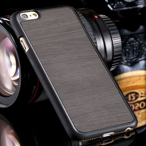 Fashion Wood Pattern Ultra Slim Cover For Iphone 6 Plus 5.5Inch Ba 32254013883-4-gray